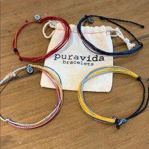Pura Vida lot of (4) bracelets